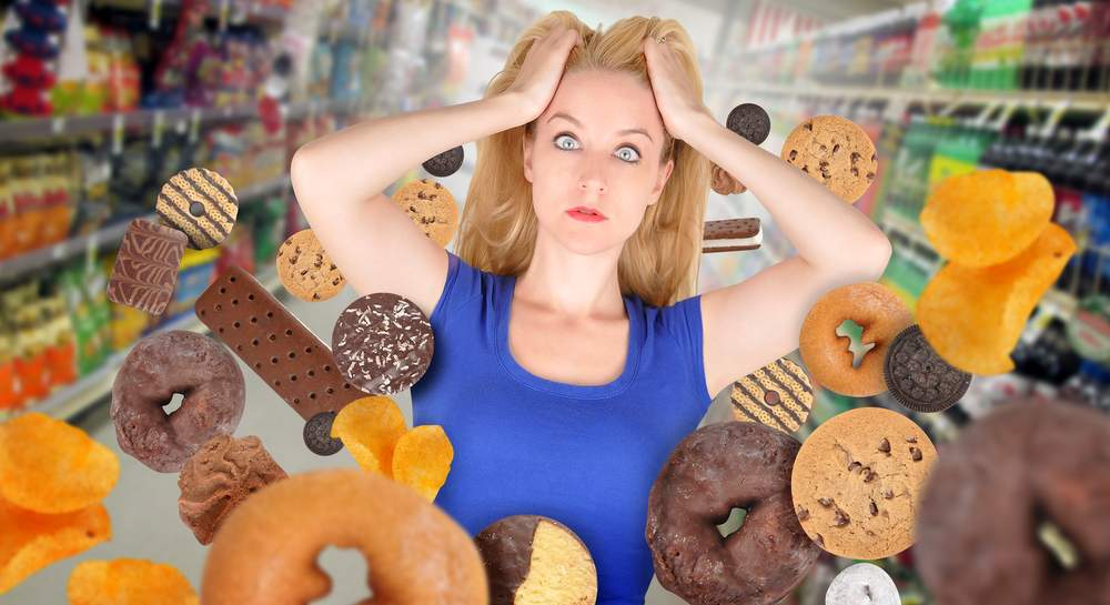 woman eating unhealthy wants happy healthy relationship with food