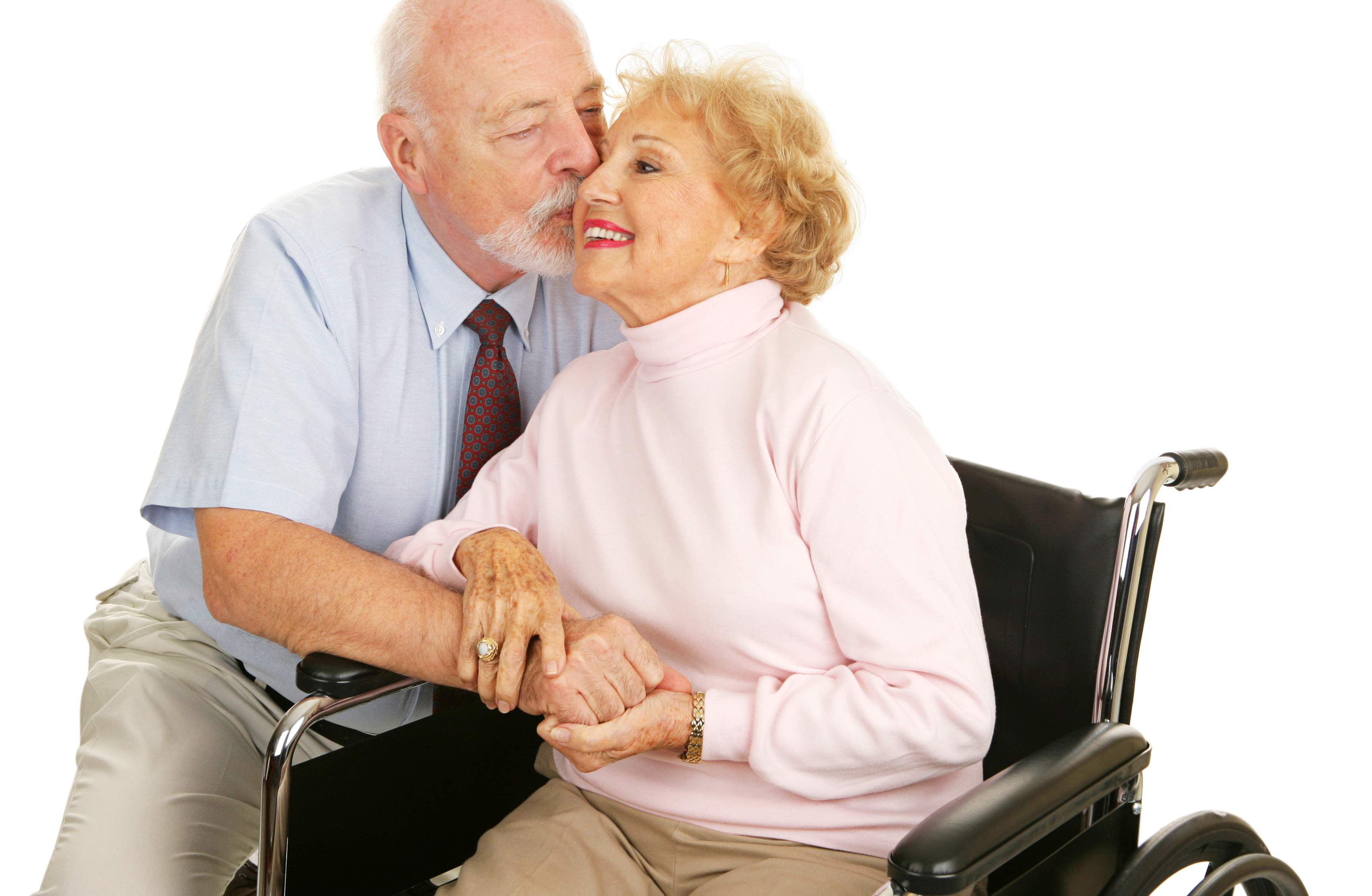 senior couple love each other and care for an ill spouse